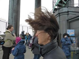 in windiger Höhe auf dem St. Michales Turm