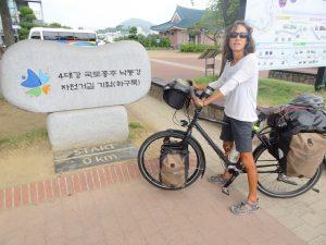 Am Start des 4 River BikePath